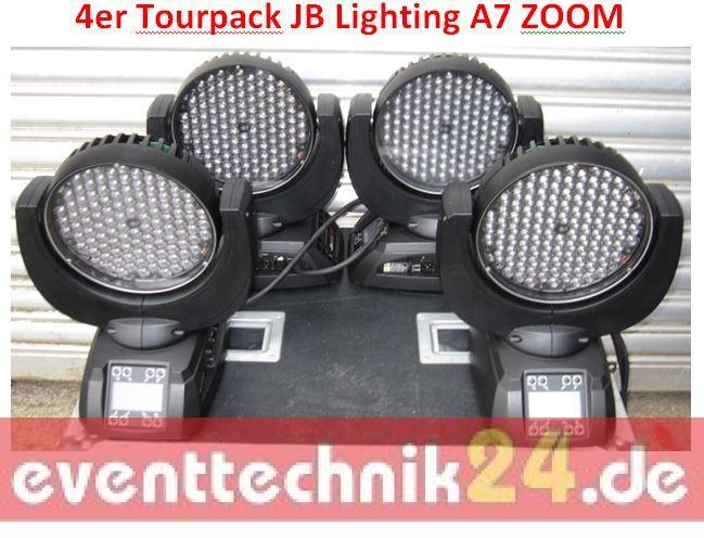 4 x jb lighting varyscan jbled a7 zoom 4er tourpack. Black Bedroom Furniture Sets. Home Design Ideas