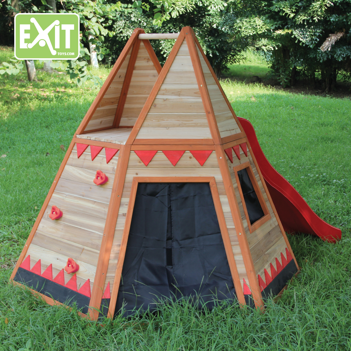 exit tipi zelt spielhaus aus holz gartenhaus f r kinder ebay. Black Bedroom Furniture Sets. Home Design Ideas