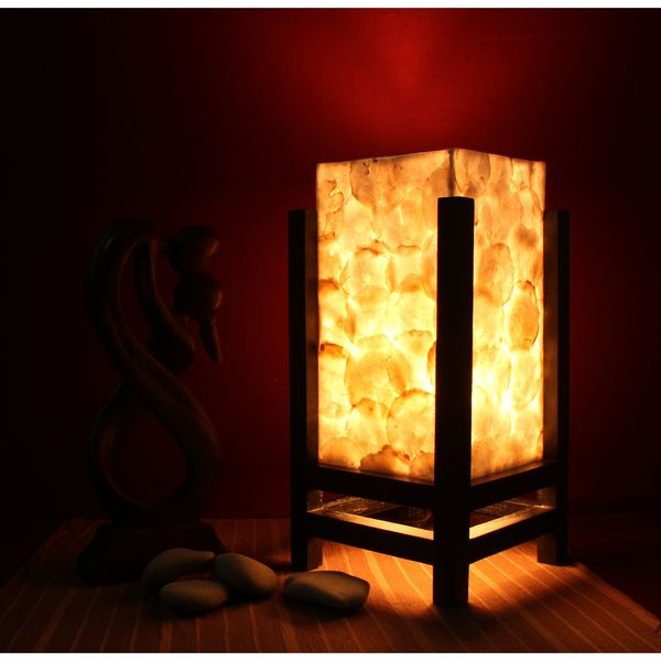 lestarie tisch lampen deko lampe muscheln holz metall handarbeit feng shui ebay. Black Bedroom Furniture Sets. Home Design Ideas