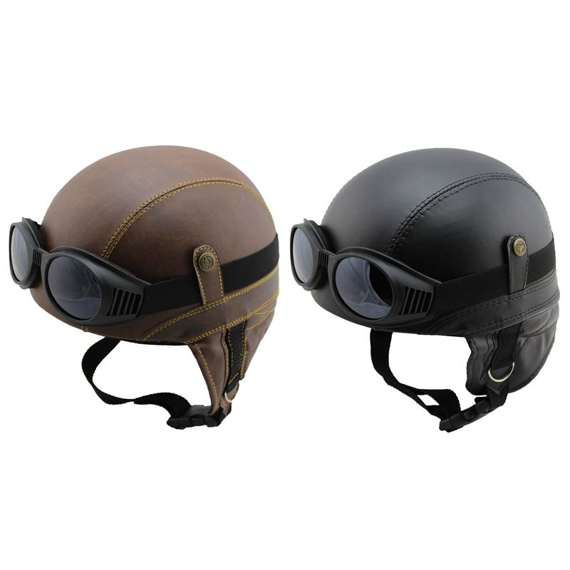 lestarie motorrad jet helm leder harley chopper vespa mofa. Black Bedroom Furniture Sets. Home Design Ideas