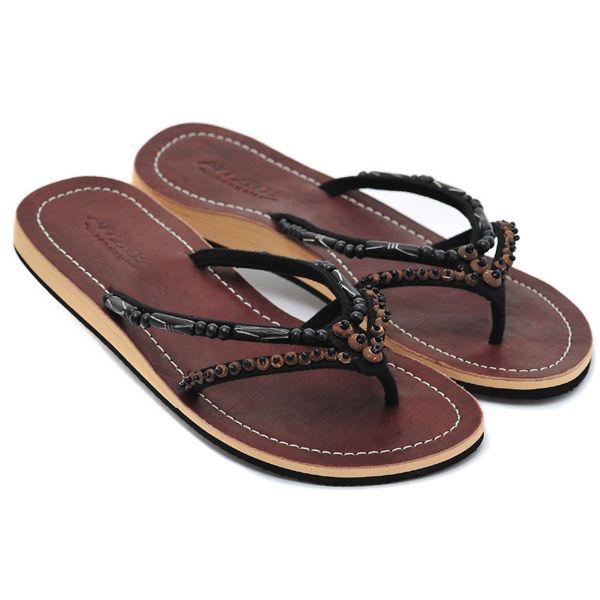 amboss damen sandale leder sandalen zehentrenner flip flops zehensteg. Black Bedroom Furniture Sets. Home Design Ideas