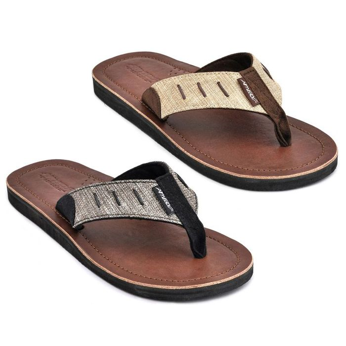 amboss herren sandalen leder flip flops zehentrenner m nner sandale zehensteg ebay. Black Bedroom Furniture Sets. Home Design Ideas
