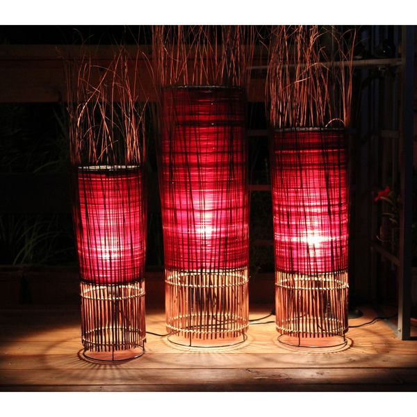 lestarie stehlampe bodenlampe stehleuchte deko lampe verschiedene gr en rot ebay. Black Bedroom Furniture Sets. Home Design Ideas