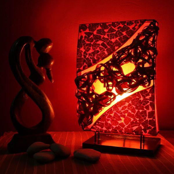 lestarie tischlampe deko lampen feng shui handgefertigt holz metall stoff ebay. Black Bedroom Furniture Sets. Home Design Ideas