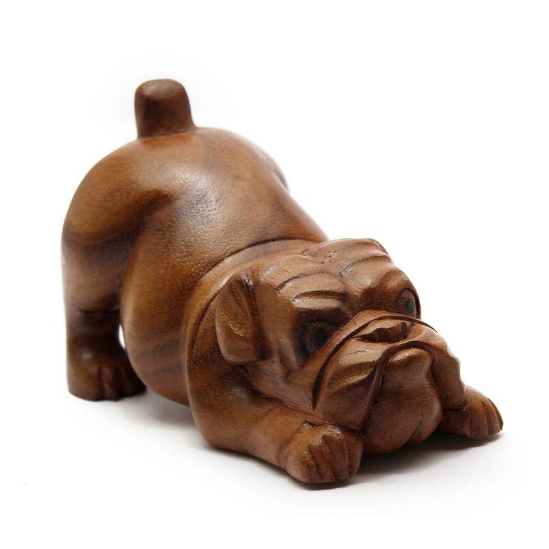 lestarie hund mops bulldogge hunde handgeschnitzt holz. Black Bedroom Furniture Sets. Home Design Ideas