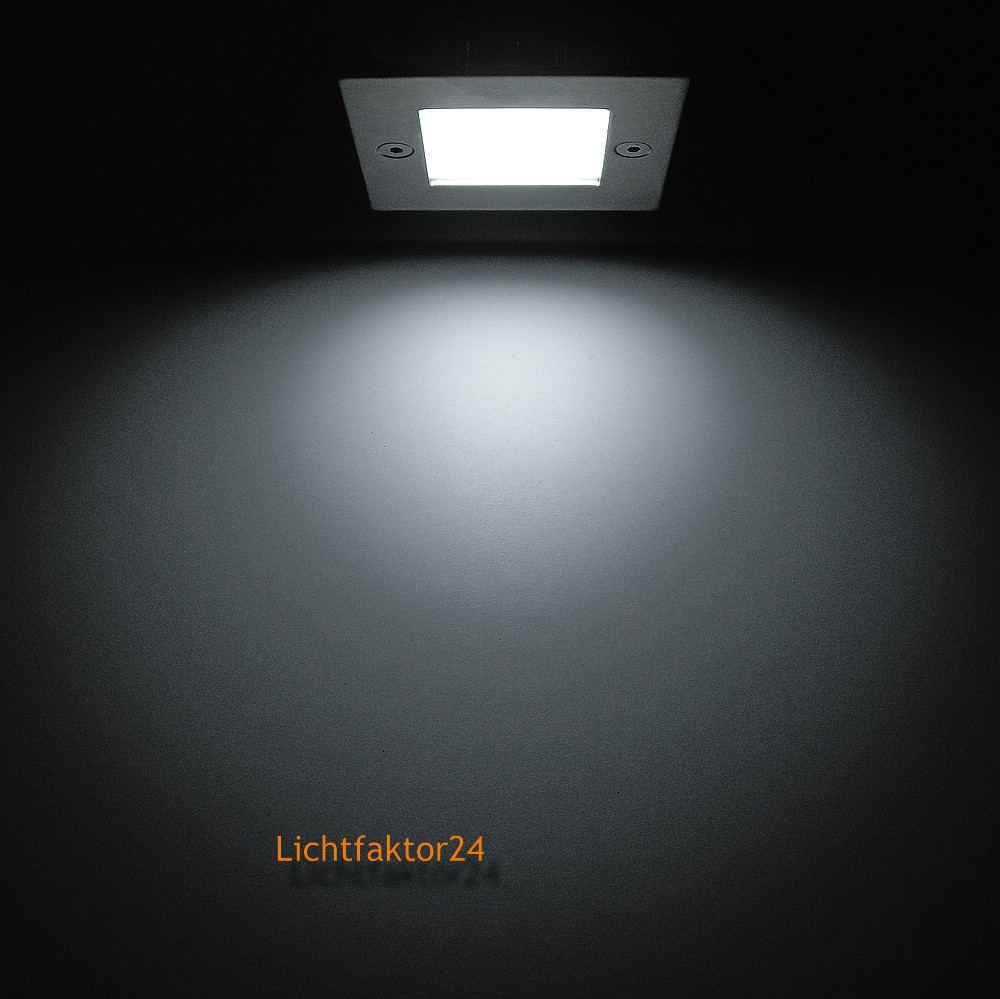 ip54 230v treppenstufenleuchten leon quadratische wandeinbaulampe aussen innen ebay. Black Bedroom Furniture Sets. Home Design Ideas