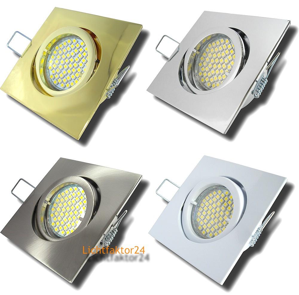 3 10er sets smd led einbaustrahler einbaulampen spotlights 230v leuchte 3w gu10 ebay. Black Bedroom Furniture Sets. Home Design Ideas