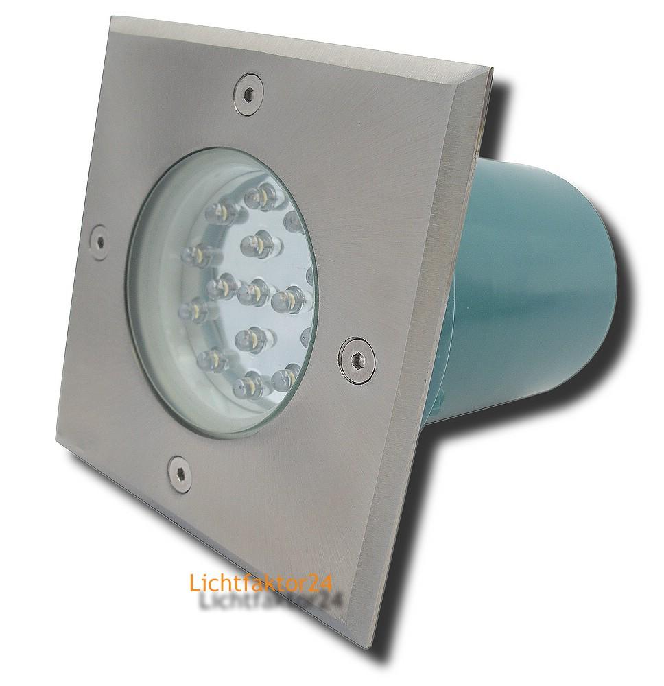 sets boden einbaustrahler terra 230v led bodenlampen ip67 f r aussen begehbar ebay. Black Bedroom Furniture Sets. Home Design Ideas