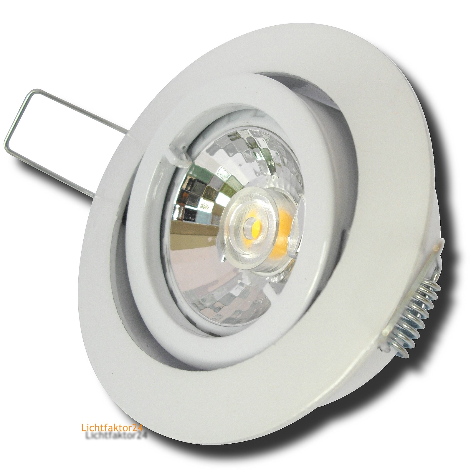 8er set 7w led einbaustrahler timo 230v dimmbare reflektor cob power leds gu10 ebay. Black Bedroom Furniture Sets. Home Design Ideas