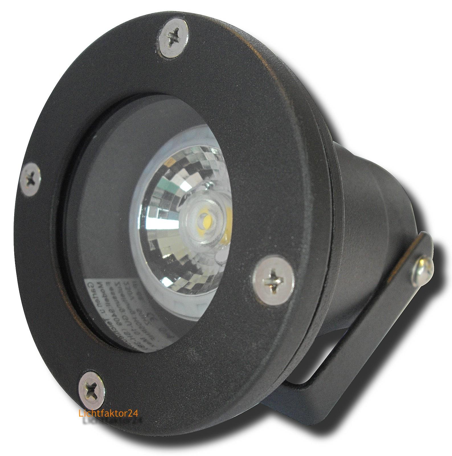 7w cob power led spotlampe dimmbar 230volt strahler zur teichbeleuchtung ip68 ebay. Black Bedroom Furniture Sets. Home Design Ideas