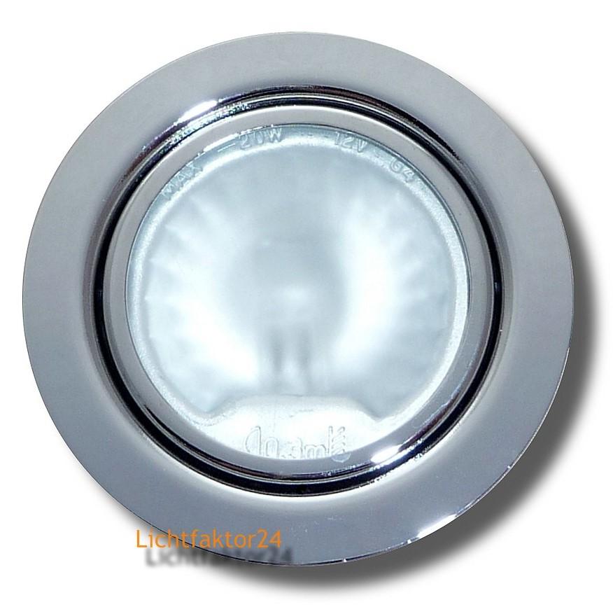 1 10er set m beleinbauleuchten 20w halogen 12v ip20 et20mm for Lampen 12v 20w