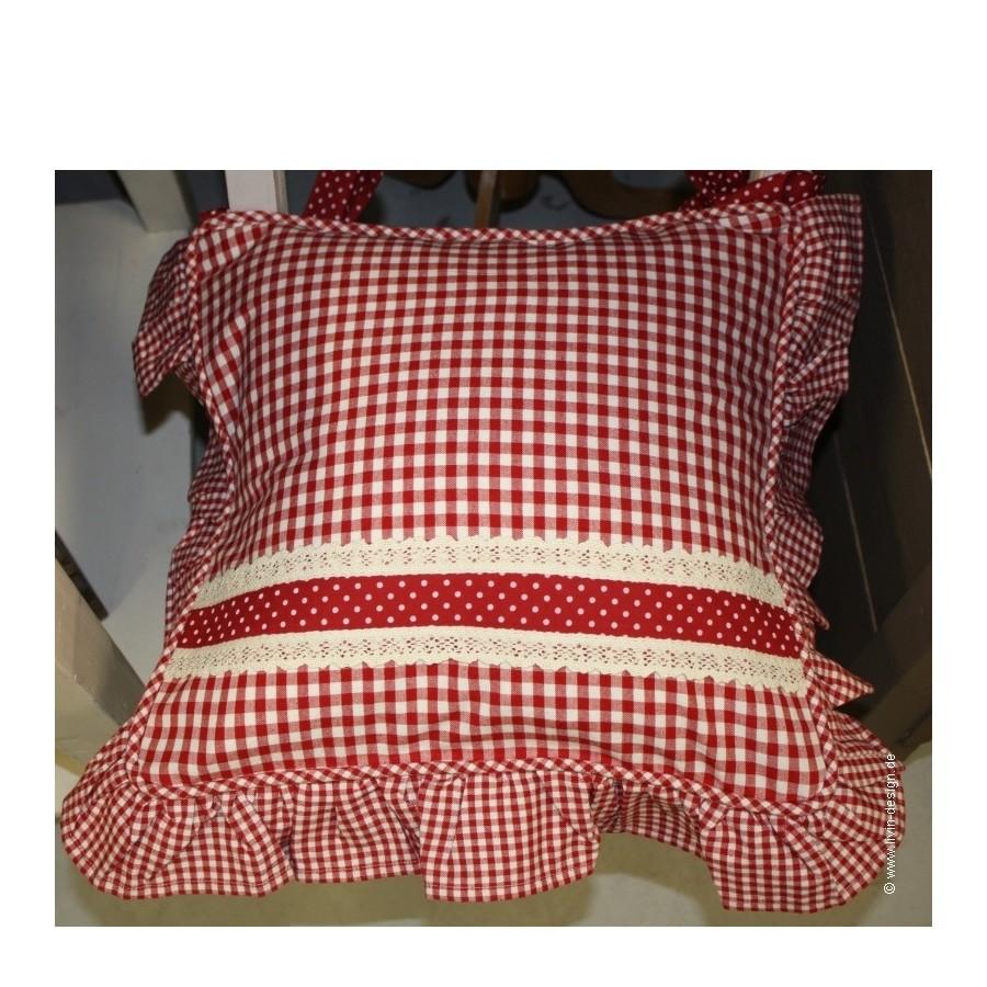 clayre eef stuhlkissen h lle check schwarz blau gr n grau beige rot 40x40 ebay. Black Bedroom Furniture Sets. Home Design Ideas