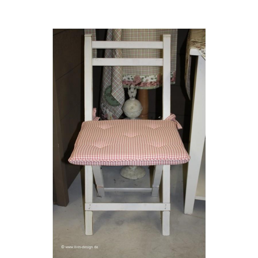 clayre eef sitzkissen stuhlpolster rose versch farben 40x40 cm ebay. Black Bedroom Furniture Sets. Home Design Ideas