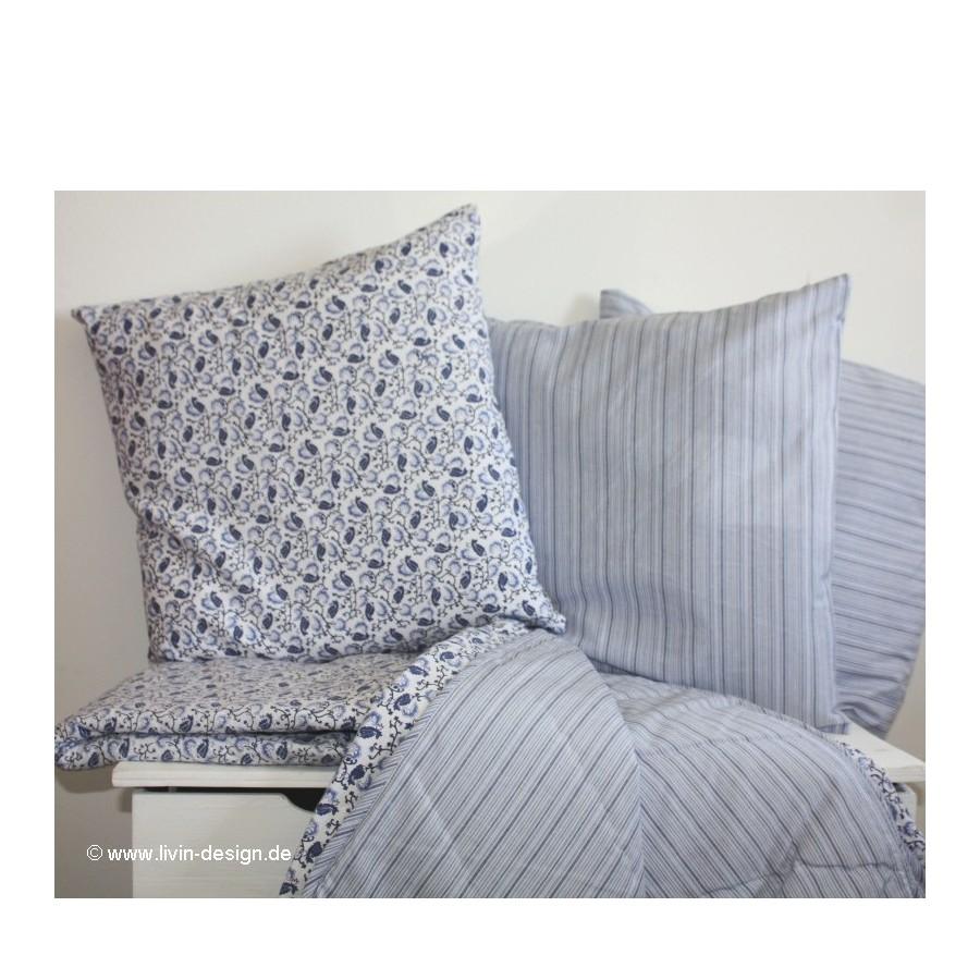 tagesdecke quilt plaid danish blue blau wei 140x200 ebay. Black Bedroom Furniture Sets. Home Design Ideas