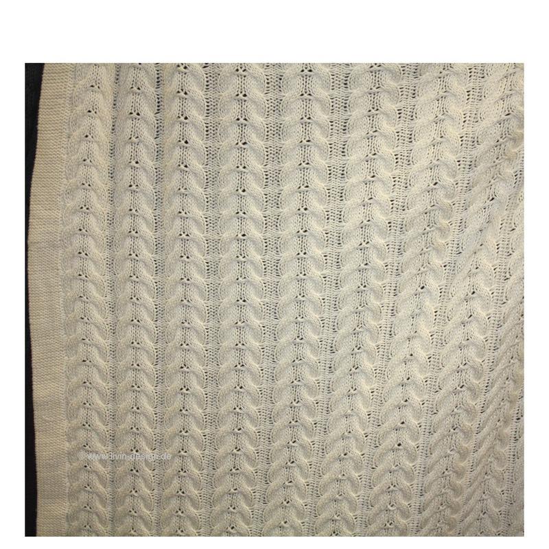 clayre eef plaid quilt decke knit versch farben lila beige natur grau 100x200cm ebay. Black Bedroom Furniture Sets. Home Design Ideas