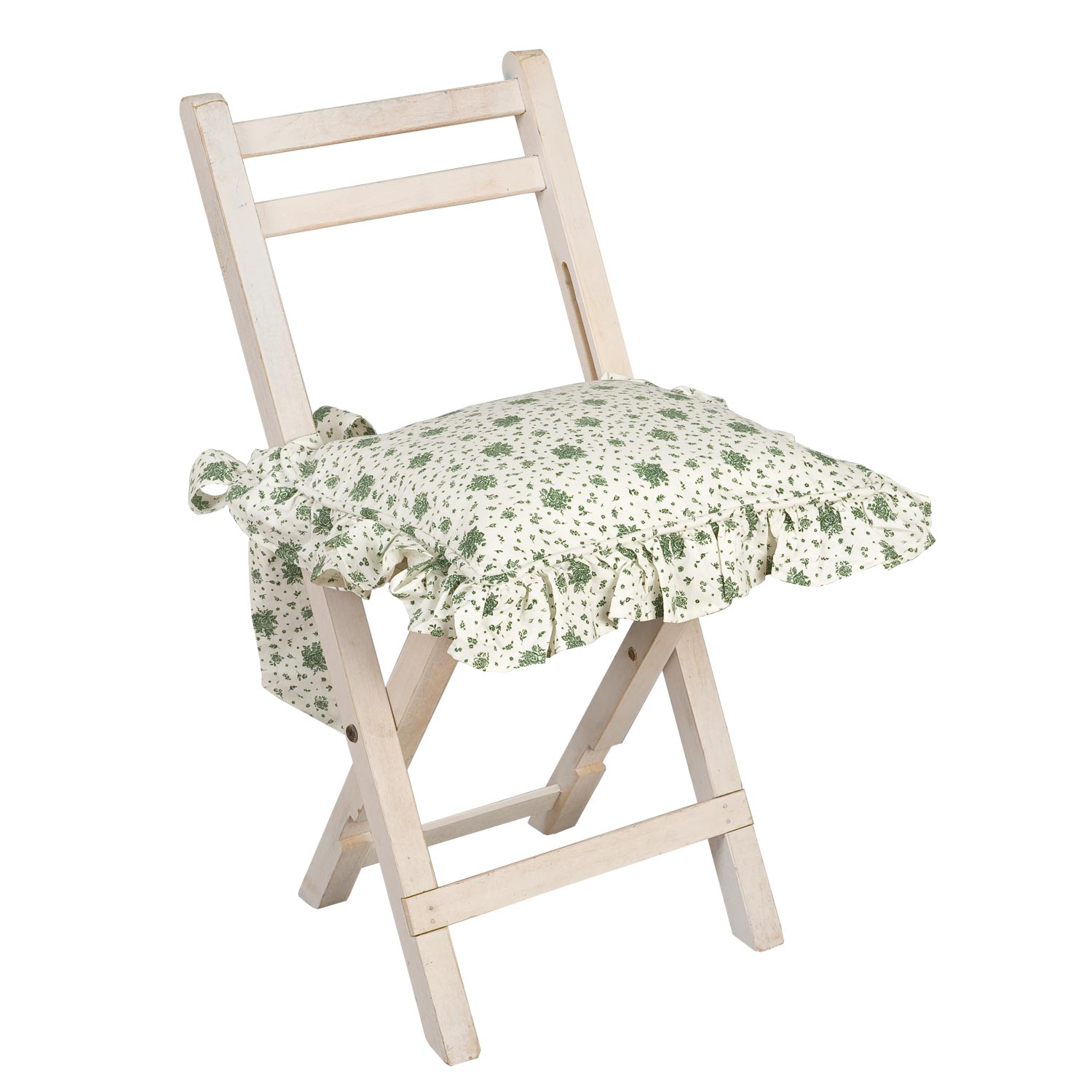 Clayre fed coussins de chaise housse flowers all over for Housse de chaise beige