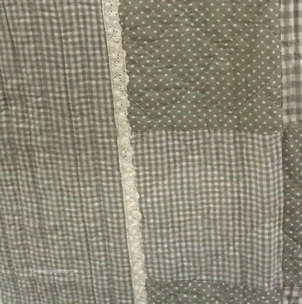 clayre eef tagesdecke quilt plaid greycheck grau wei versch gr en ebay. Black Bedroom Furniture Sets. Home Design Ideas