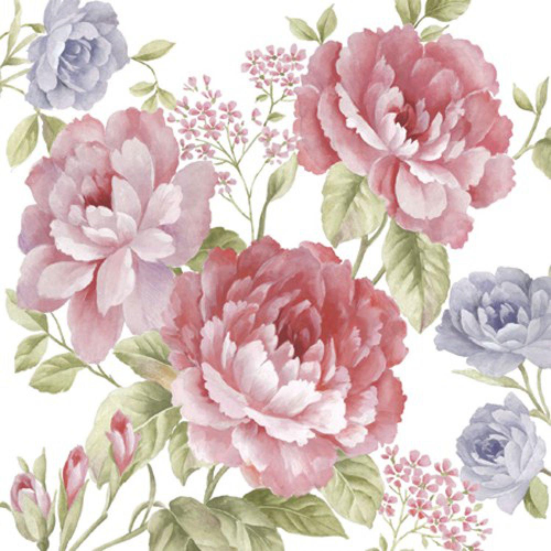20 servietten julietta rosen lila rosa blumen blau. Black Bedroom Furniture Sets. Home Design Ideas