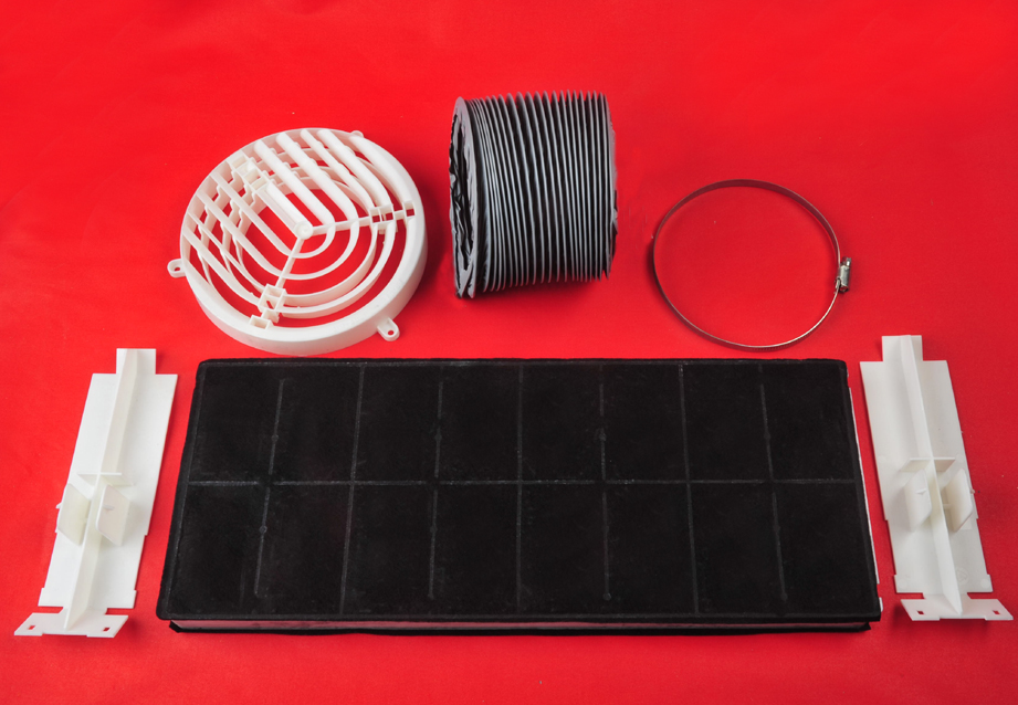 starterset umluft abzugshaube dhz3405 bosch siemens mit kohlefilter 00296178 ebay. Black Bedroom Furniture Sets. Home Design Ideas