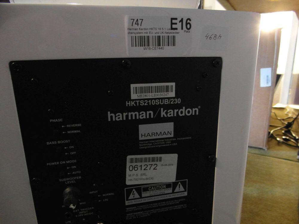 harman kardon hkts 210sub 230 nur subwoofer von hkts16 defekt id 46bm ebay. Black Bedroom Furniture Sets. Home Design Ideas