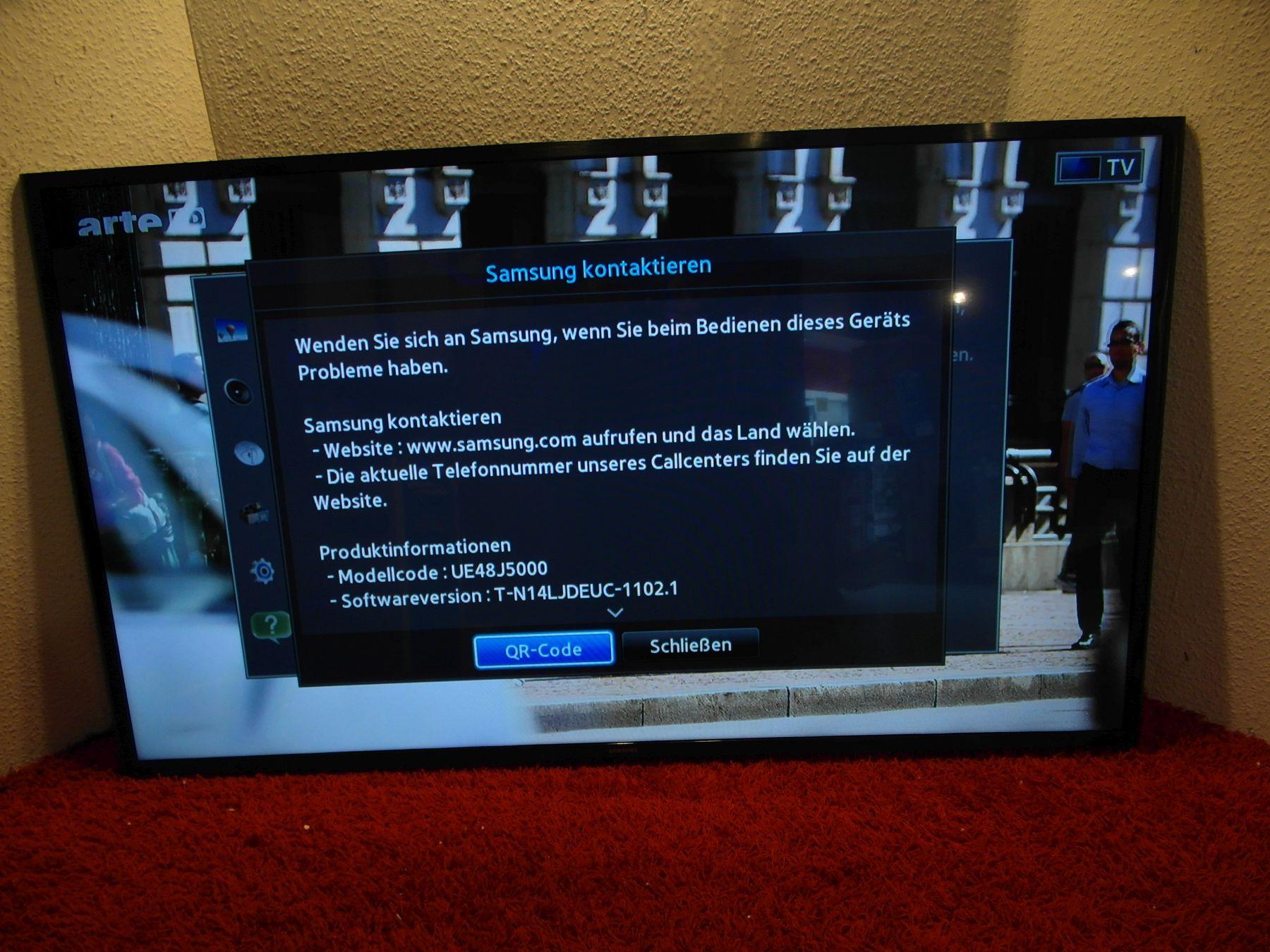 samsung ue48j5000 48 zoll led tv ohne dvb s 200 pqi siehe fotos 65bn ebay. Black Bedroom Furniture Sets. Home Design Ideas