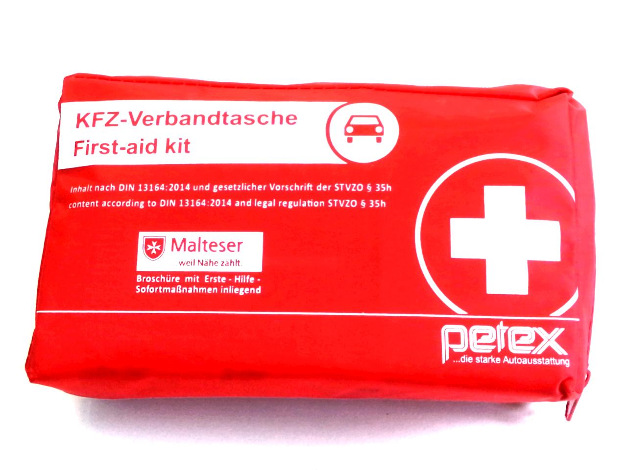 Petex KFZ Auto Verbandstasche Verbandtasche Verbandkasten rot