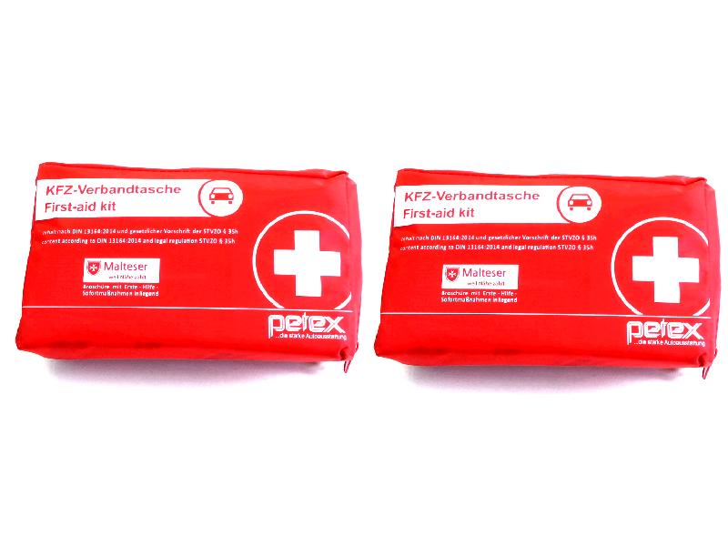 Petex KFZ Verbandstasche Verbandskasten Verbandsbeutel Verbandtasche rot