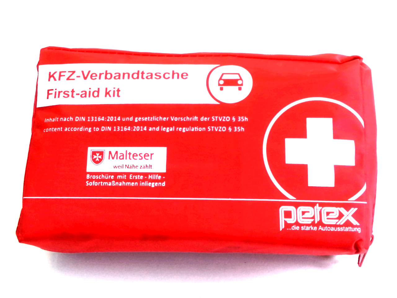 Petex KFZ Verbandstasche Verbandtasche Verbandskiste rot DIN 13164:2014