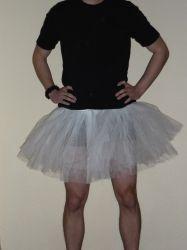 Weißes Tütü Tutu Rock aus Mehrlagigem Tüll für Karneval Fasching Männerballett
