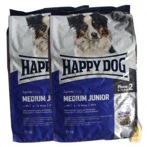 2 x10 20 kg happy dog supreme young medium junior. Black Bedroom Furniture Sets. Home Design Ideas