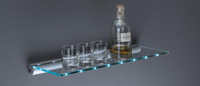 glasregal led light beleuchtet ebay. Black Bedroom Furniture Sets. Home Design Ideas