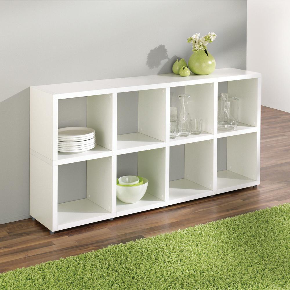 regalsystem boon modular wei 40 gr en h he 110cm ebay. Black Bedroom Furniture Sets. Home Design Ideas