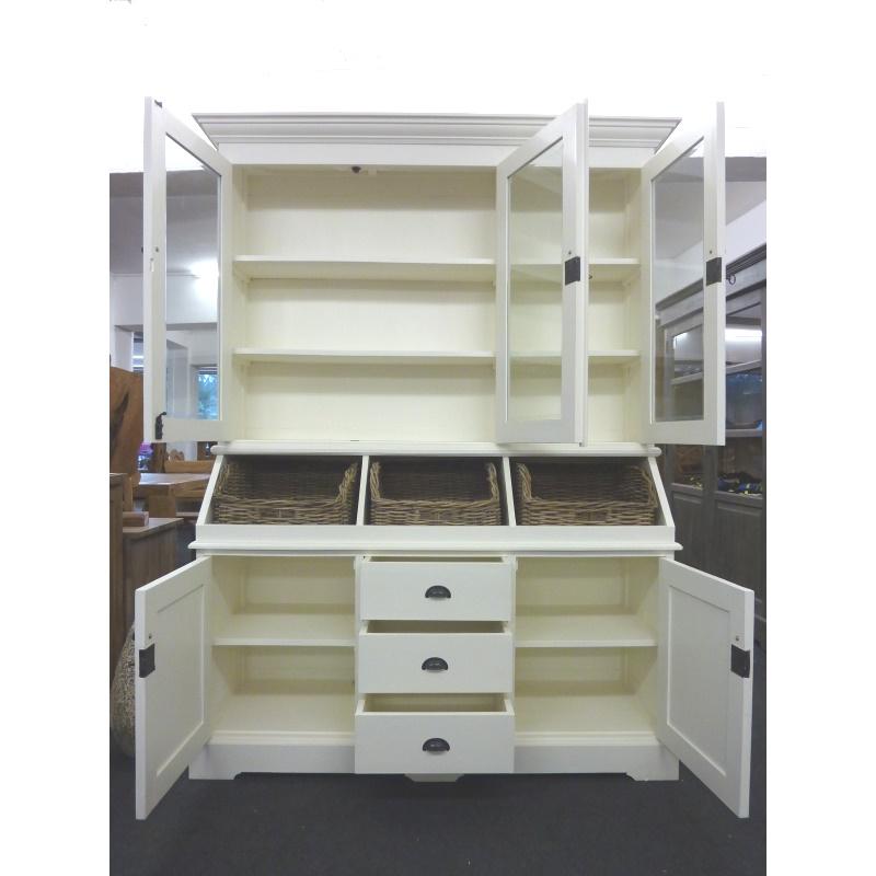buffetschrank bordeaux landhausstil l vitrinenschrank mit. Black Bedroom Furniture Sets. Home Design Ideas