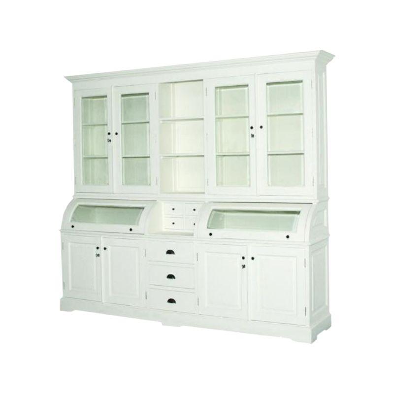 buffet schrank l vitrine massivholz weiss 210cm paris ebay. Black Bedroom Furniture Sets. Home Design Ideas