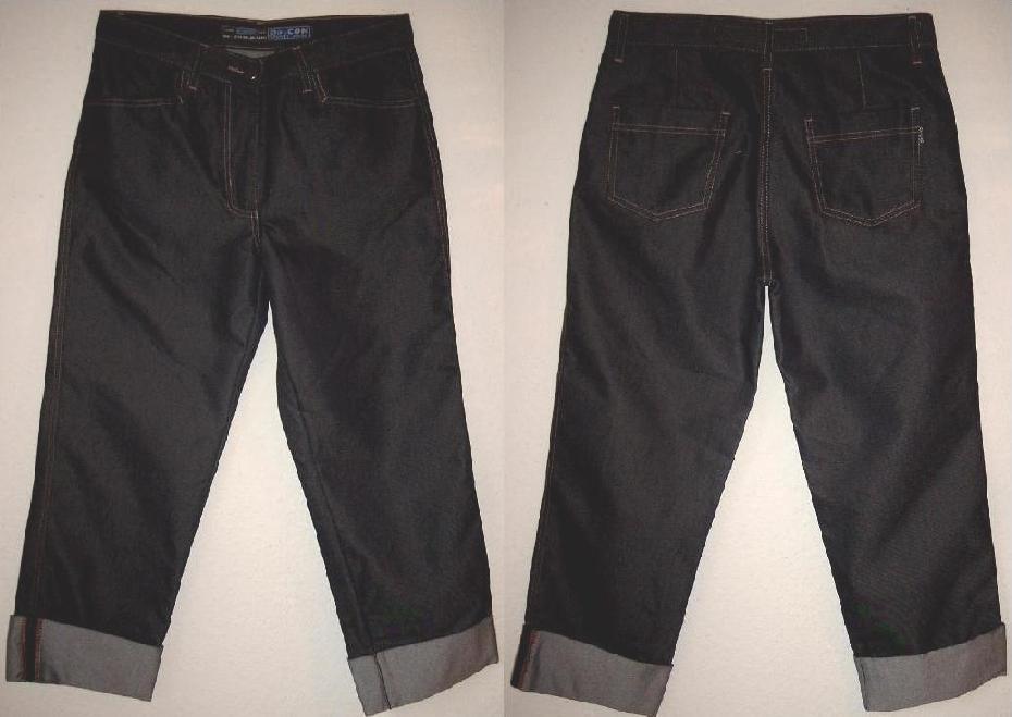 de con miss sixty 3 4 schwarze damen jeans w27 36s. Black Bedroom Furniture Sets. Home Design Ideas