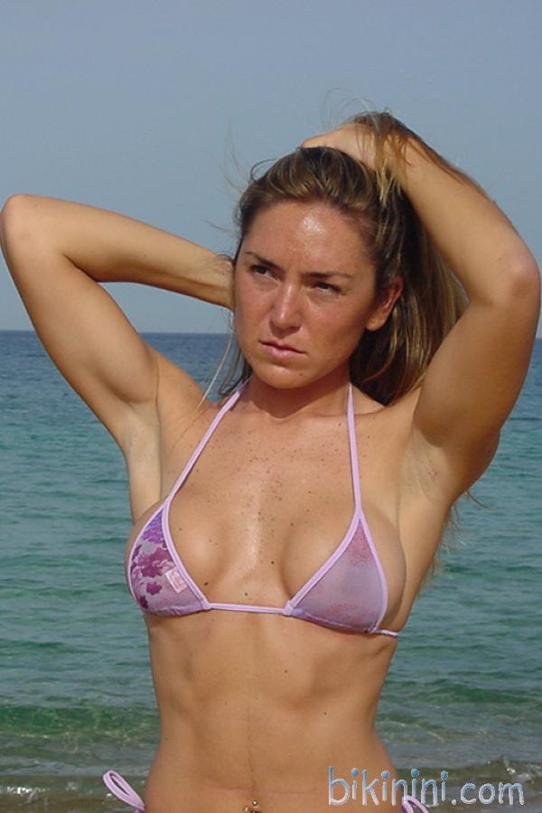 bikinini MB400 Sexy Bikini Top Mesh durchsichtig lila Gr