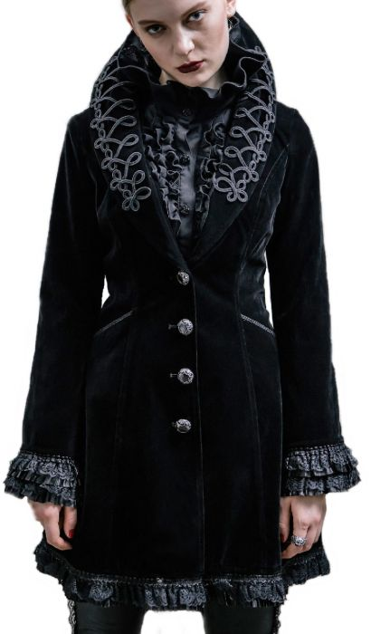 gehrock jacke damen mantel kost m gothic samt frack b nnenoutfitt devil fashion ebay. Black Bedroom Furniture Sets. Home Design Ideas