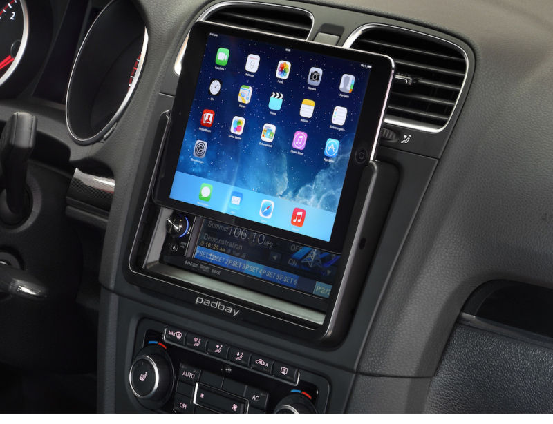 apple ipad mini autohalterung padbay vw golf passat touran. Black Bedroom Furniture Sets. Home Design Ideas
