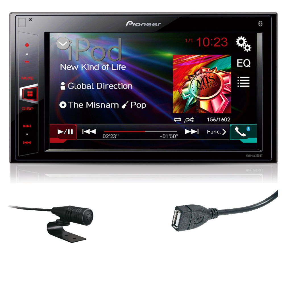 pioneer mvh av270bt 2 din aux usb autoradio mit bluetooth. Black Bedroom Furniture Sets. Home Design Ideas
