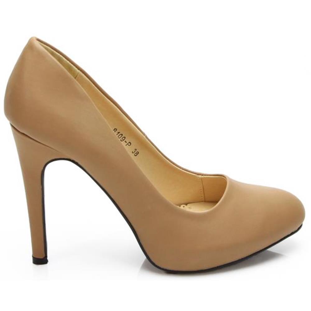 damenschuhe pumps high heels club party schuhe braun 36 37. Black Bedroom Furniture Sets. Home Design Ideas