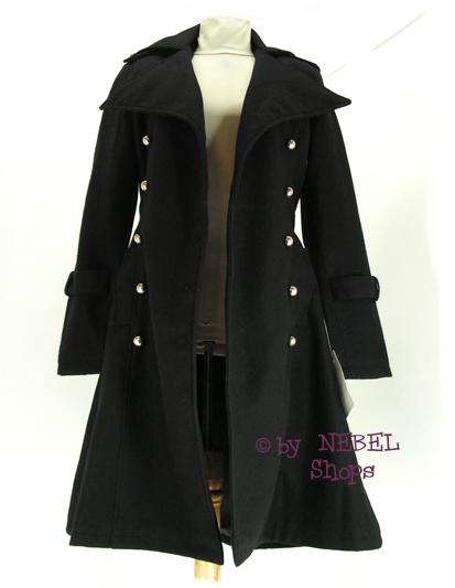 kurzer gothic uniform wollmantel zweireihig gr s 34 36 ebay. Black Bedroom Furniture Sets. Home Design Ideas
