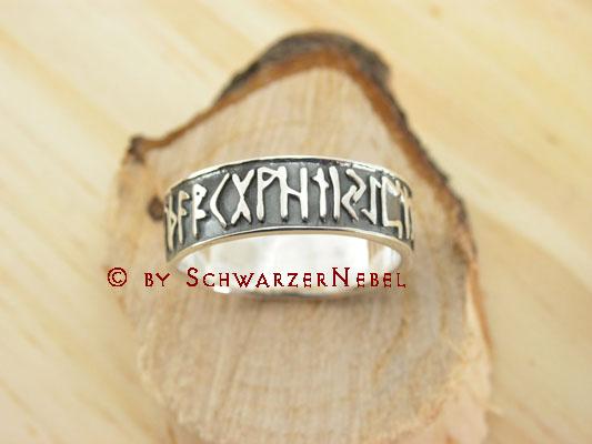 Gothic-Kelten-Silber-Ring-Germanische-Runen-16-56-57