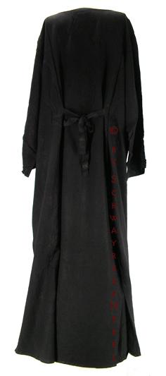 langes schwarzes damen gothic kleid kimono bergr en kleider gr 58 62. Black Bedroom Furniture Sets. Home Design Ideas