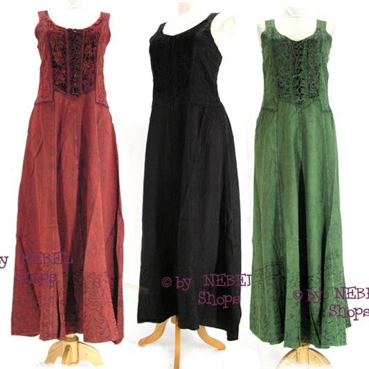 sommerliches damen ethno hippie kleid viskose schwarz gr n rot gr 36 40 ebay. Black Bedroom Furniture Sets. Home Design Ideas