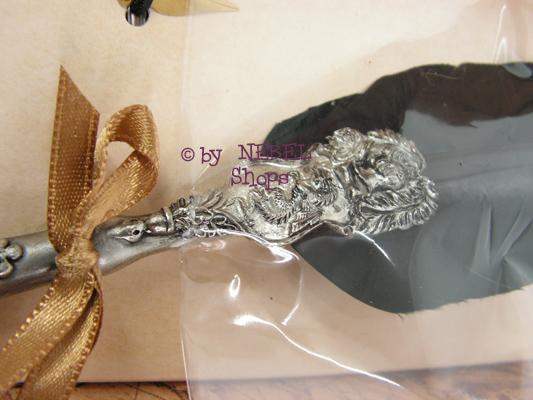 geschenkset kalligrafie schreibfeder von dallaiti schwarz drachenfederhalter ebay. Black Bedroom Furniture Sets. Home Design Ideas