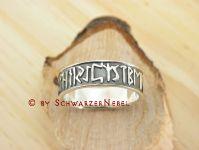 Gothic Kelten Silber Ring Germanische Runen 16 (56/57)