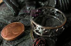 Silberring mit Sternen - Sternchen Esoterik 30 (69/70)