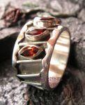 Granatedelstein Silberring