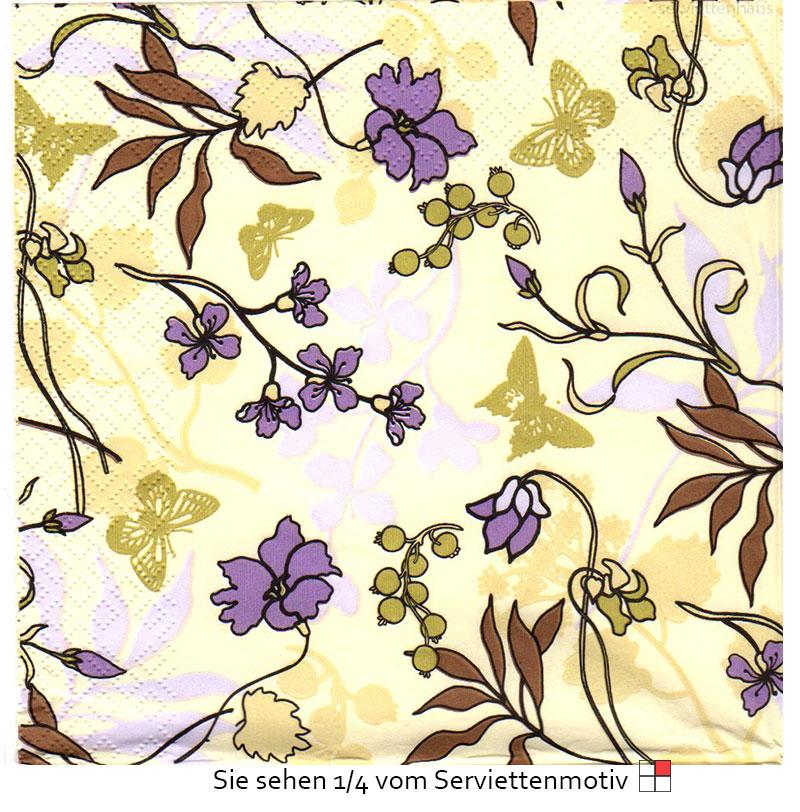blumen in der farbe flieder 3 servietten ebay. Black Bedroom Furniture Sets. Home Design Ideas