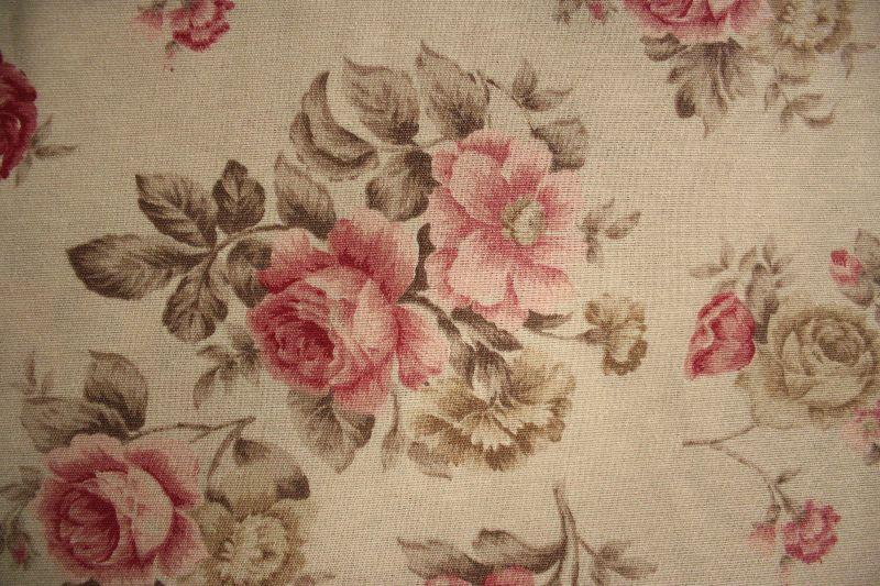 gardine deko stoff rosen 0 5m tasche vorhang meterware romantisch kissen neu ebay. Black Bedroom Furniture Sets. Home Design Ideas